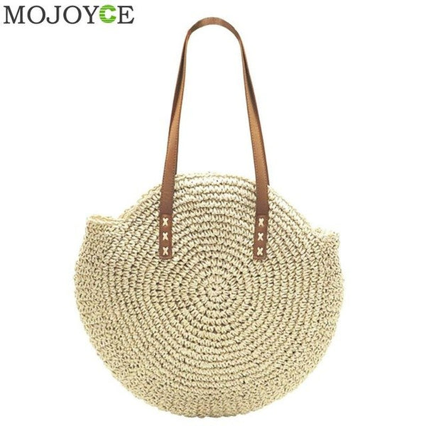 Summer Straw Beach Bag 2 Styles