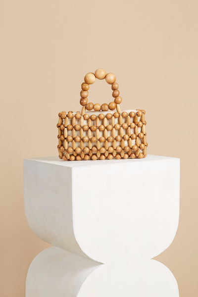BB   Natural Wooden Beads Handbag