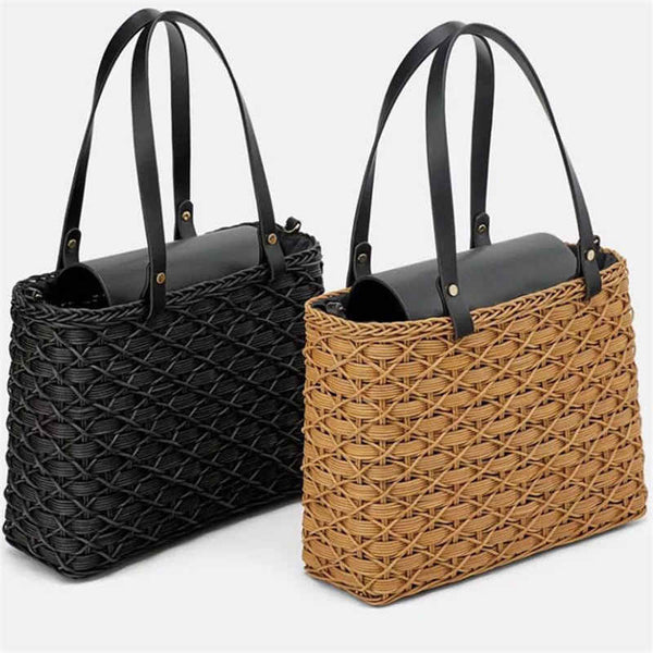 VA Luxury Straw Rattan Bag