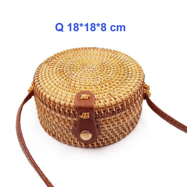 Straw Summer Rattan Bag 9 Styles