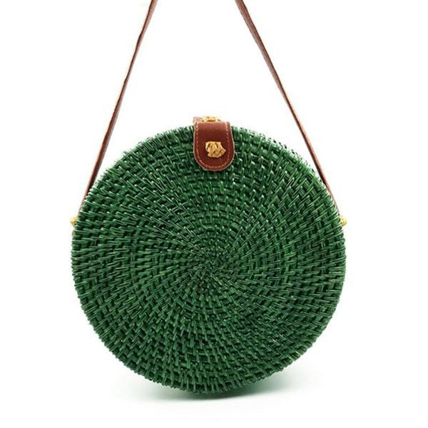 Round Straw Summer Handbags 5 Colors