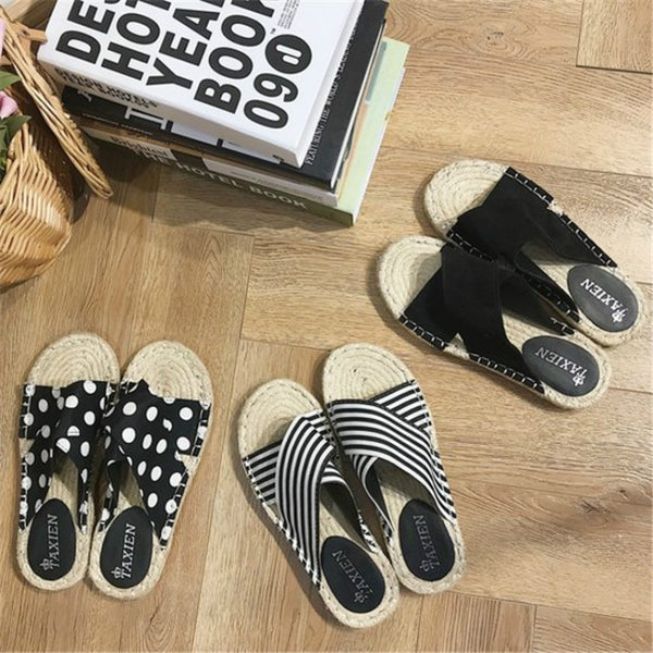 Straw-Woven Fisherman Sandals 3 Styles