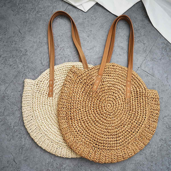 Straw Beach Woven Bag