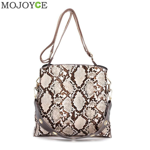 Small Crossbody Bag For Women Fashion Snake PU Leather Shoulder Bag Handbag