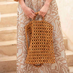 Natural Wood Beads Bag