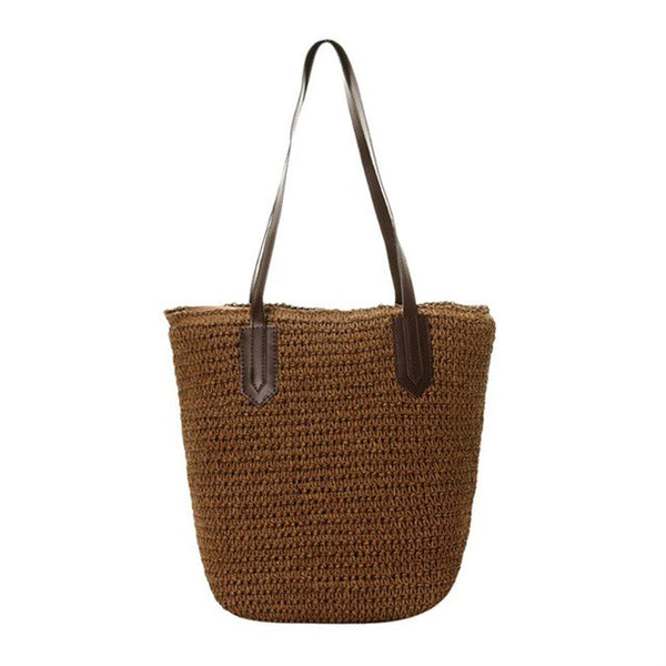 Handmade Straw Braided Woven Bag 3 Colors