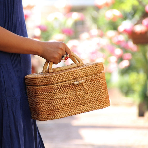 Straw Summer Rattan Bags Box