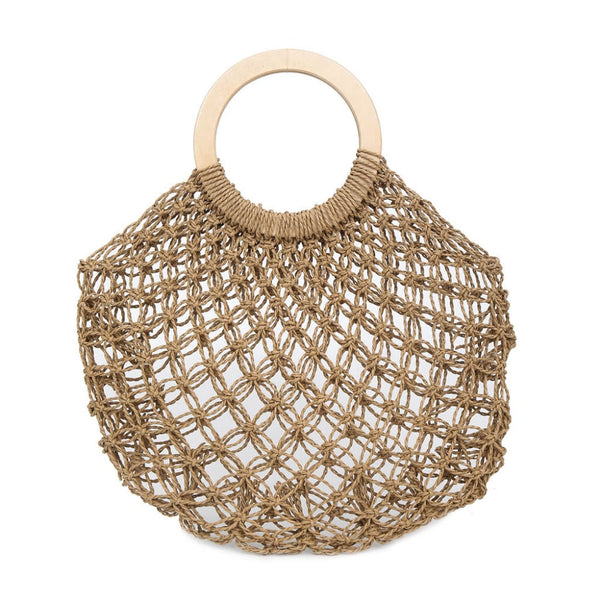 Straw Woven Beach Bag