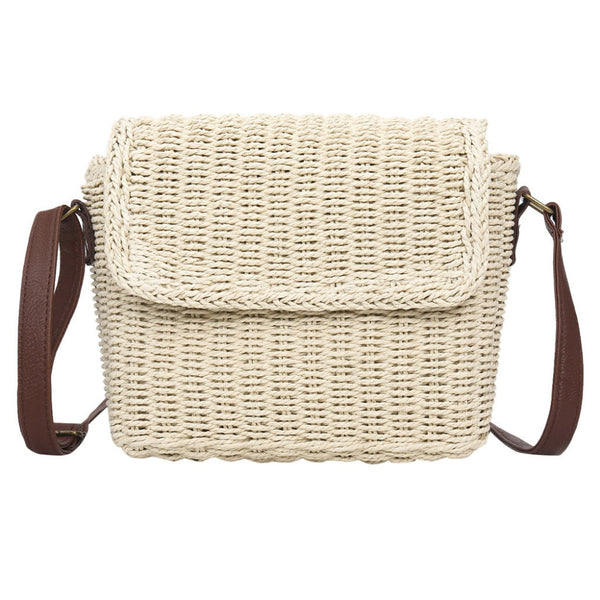 VA Straw Woven Cross Body Bag