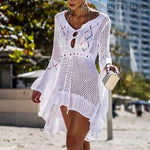 Crochet Solid Cover-Up Beach Wear 9 Colors