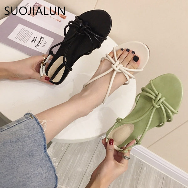 Cross Strap Flat Slides Casual Sandals