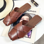 Luxury Leather Mules Low Heels Sandals