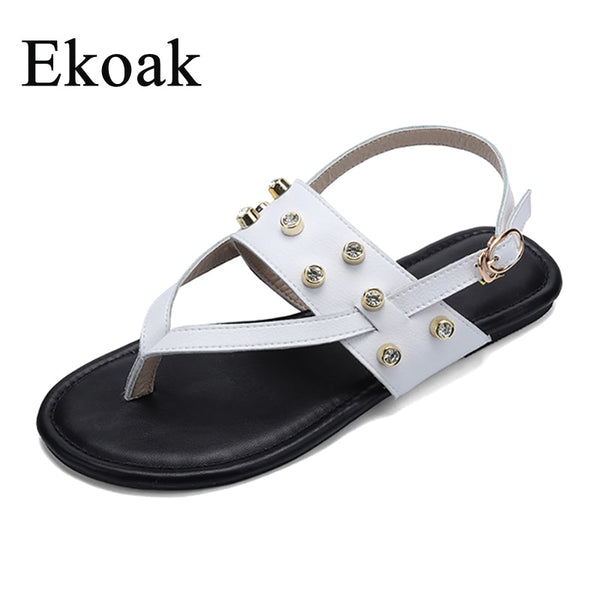 Genuine Cow Leather Pearl Dress Sandals