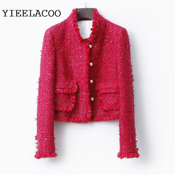 Tassel Slim Winter Woolen Jacket Coat