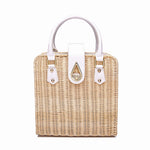 BB  Genuine Leather Handmade Rattan Woven Bags