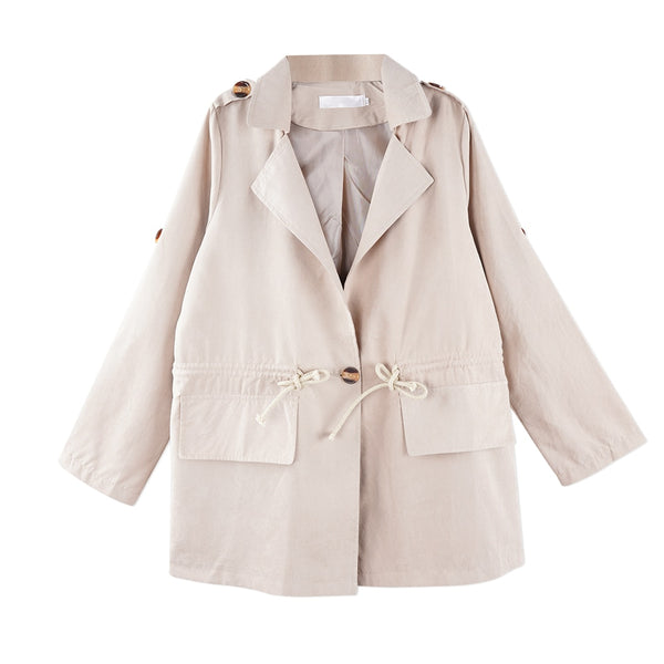 MD  Autumn Fashion Casual Trench Coat