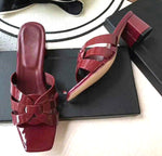 Cross Tied  Thick High Heels Sandals