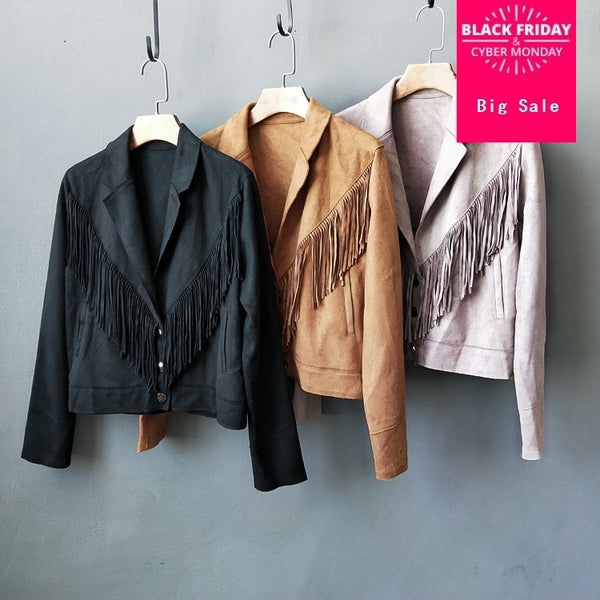 BB   Fashion Brand Faux Suede Jacket