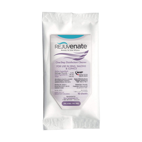 Image of Disinfectant Wipes & Sprays Rejuvenate™ Disinfectant Cleaner Soft Pack Wipes, 10 Count