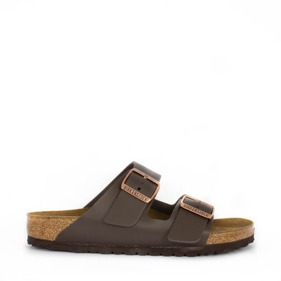 Birkenstock Arizona Dark Brown Leather Regular Width - Frontrunner Colombo