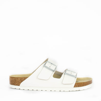 Birkenstock Arizona White Leather Narrow Width - Frontrunner Colombo