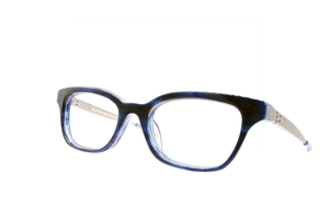 Strength frames in spirited sapphire - side