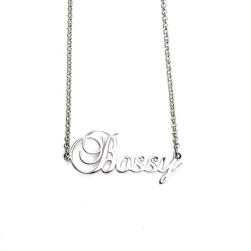 Name Necklace Fancy Style