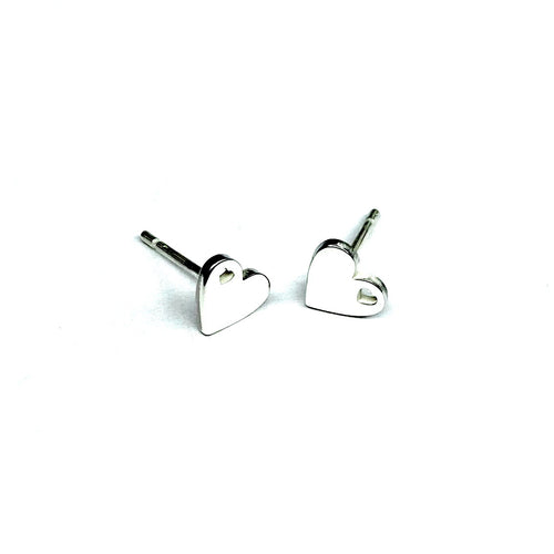 Mini Heart in Heart Earrings