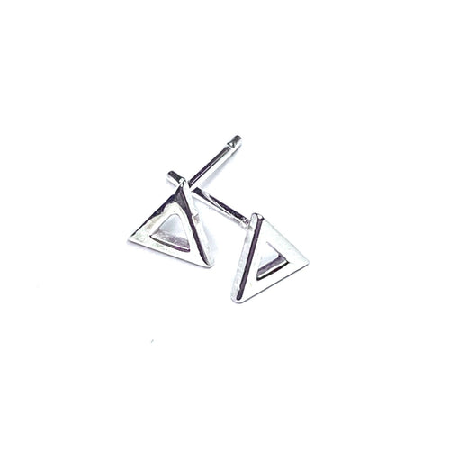 Mini Triangle Cutout Earrings