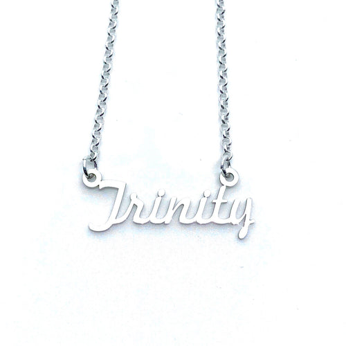Name Necklace Trinity Style