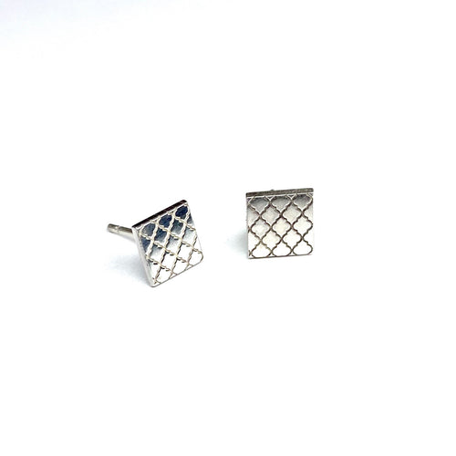Mini Square Moroccan Earrings