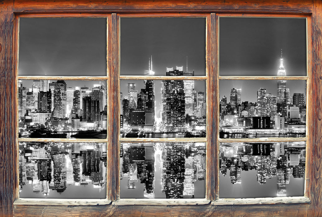 Manhattan Skyline 3D Wandtattoo Fenster