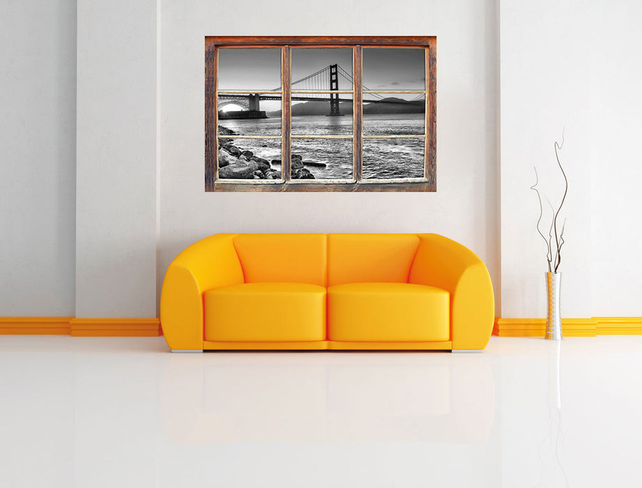 Imposante Golden Gate Bridge 3D Wandtattoo Fenster Wand
