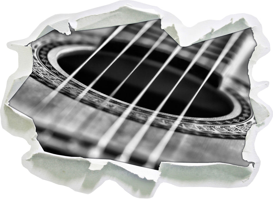 Gitarrensaiten and Music 3D Wandtattoo Papier