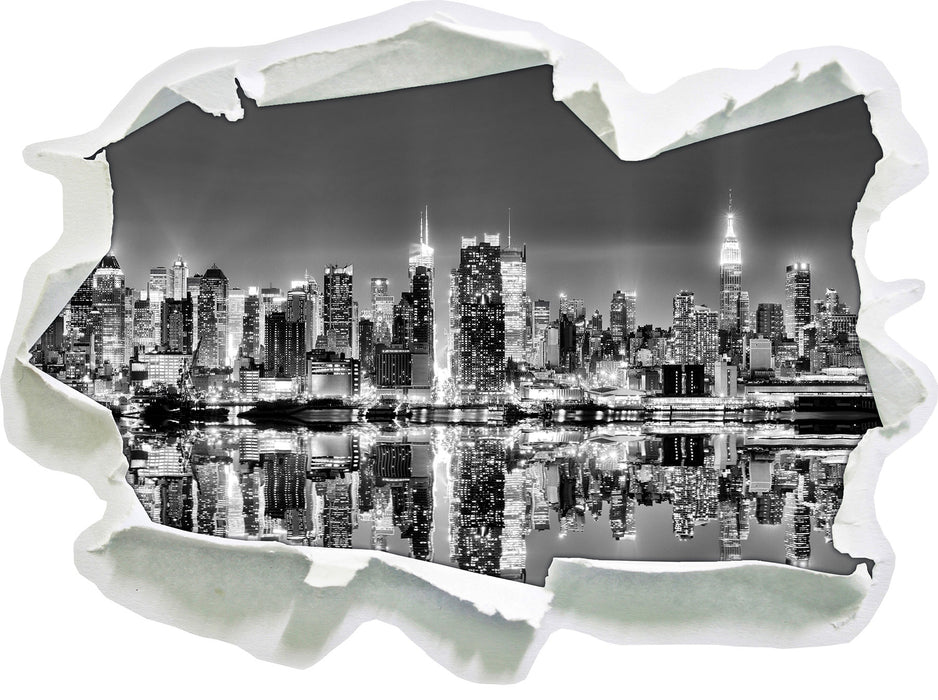 Manhattan Skyline 3D Wandtattoo Papier
