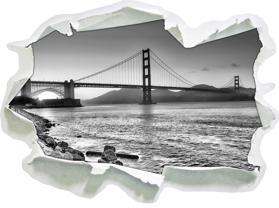 Imposante Golden Gate Bridge 3D Wandtattoo Papier