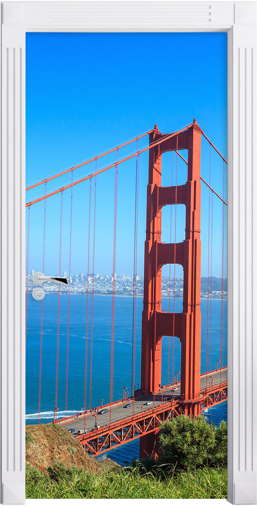 Golden Gate Bridge in USA Türaufkleber