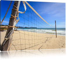 Volleyballnetz am Strand Leinwandbild
