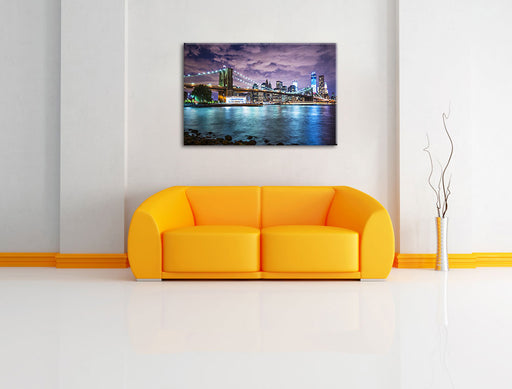 Skyline New York Leinwandbild über Sofa