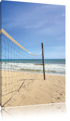 Volleyballnetz am Strand, Leinwandbild