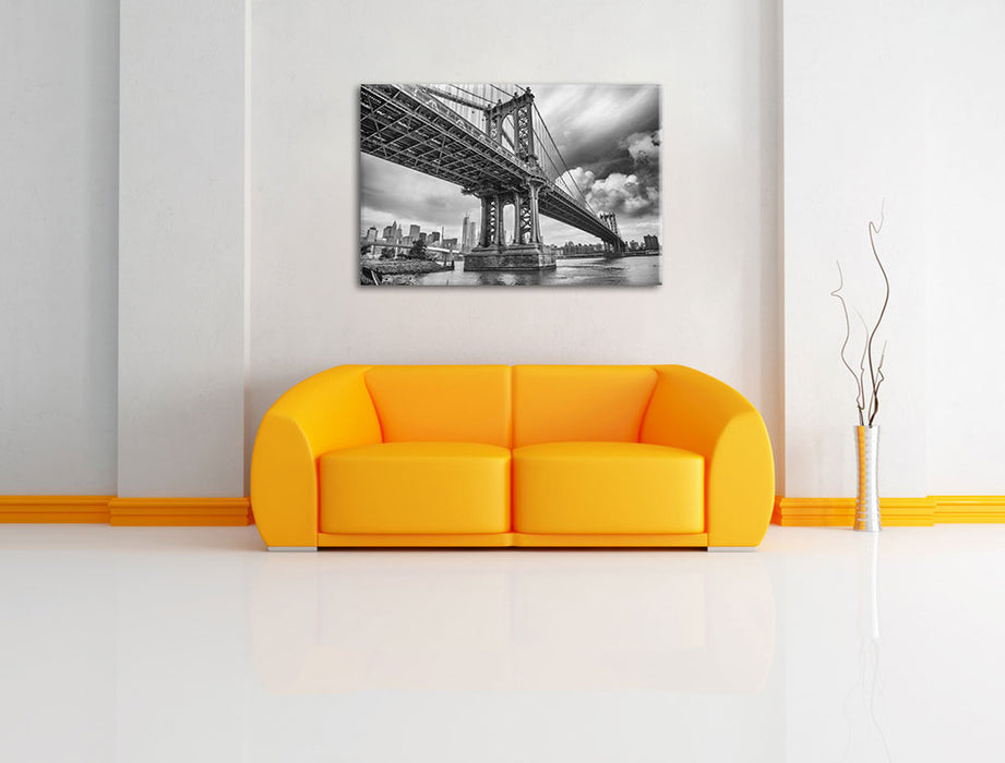 Manhattan Bridge New York Leinwandbild über Sofa