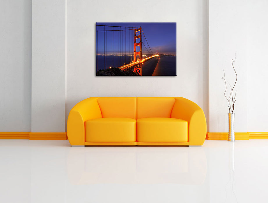 Golden Gate Bridge San Francisco Leinwandbild über Sofa