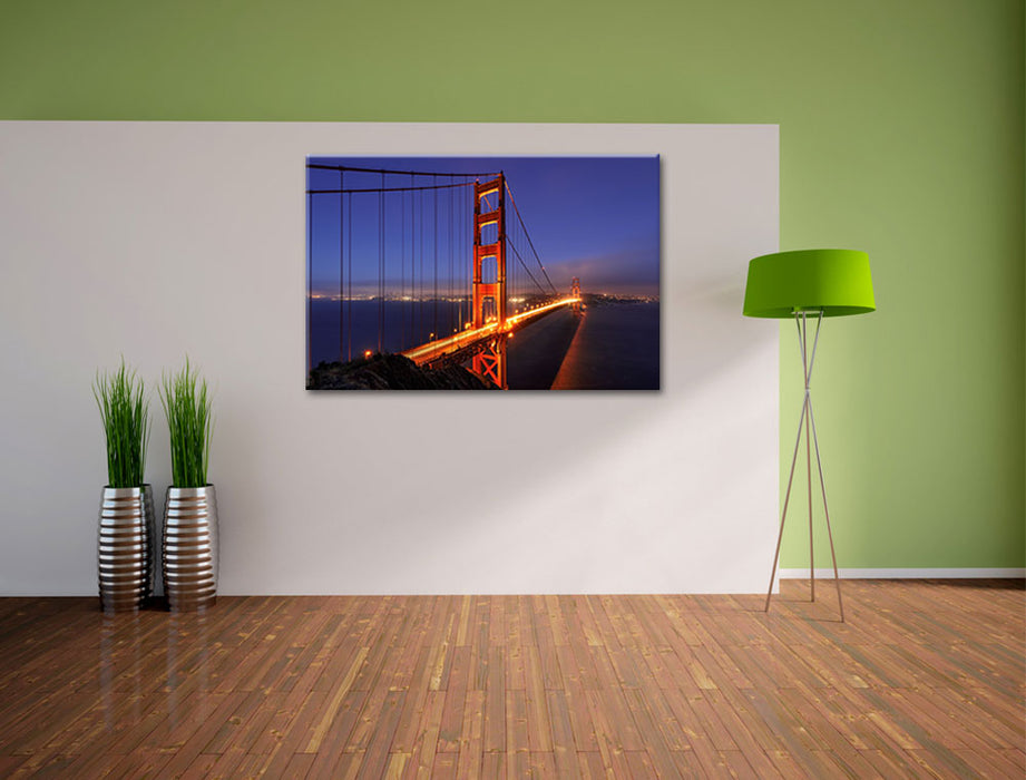 Golden Gate Bridge San Francisco Leinwandbild im Flur