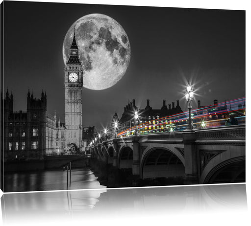 Big Ben mit Mond London Leinwandbild