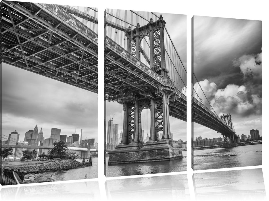 Manhattan Bridge New York Leinwandbild 3 Teilig