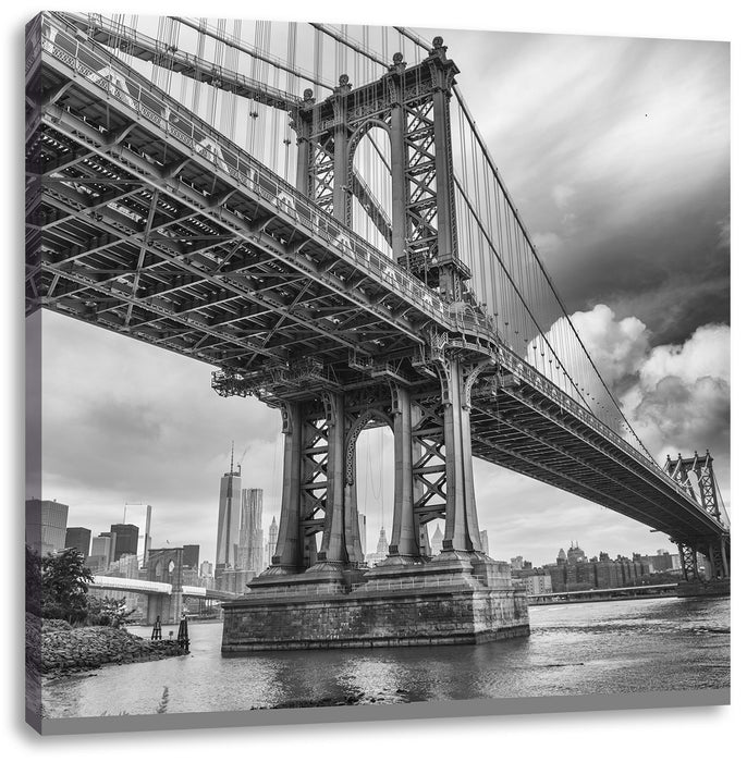 Manhattan Bridge New York Leinwandbild Quadratisch