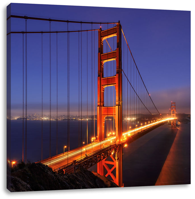 Golden Gate Bridge San Francisco Leinwandbild Quadratisch