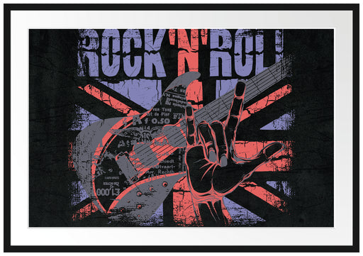 Rock n Roll Black Passepartout 100x70