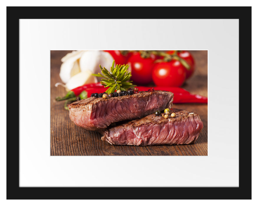 Saftiges Pfeffer Steak Passepartout 38x30