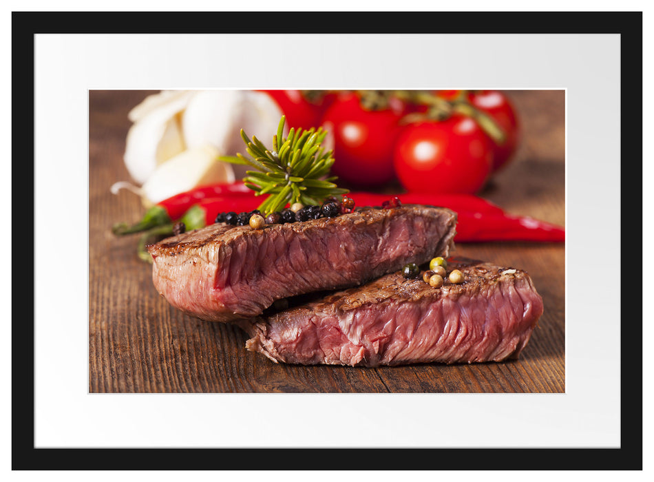 Saftiges Pfeffer Steak Passepartout 55x40